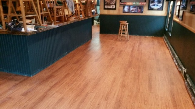 Water resistant wood look commercial flooring in Manchester, NH from ADF Flooring LLC