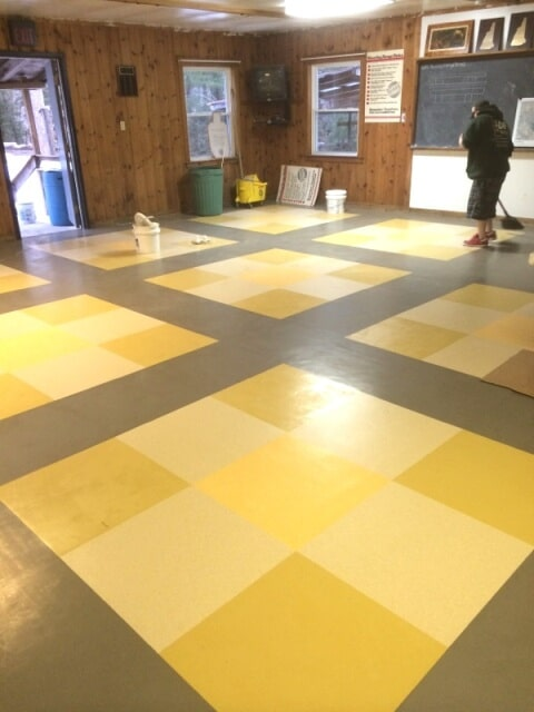 Patterned commercial flooring in Plymouth, NH from ADF Flooring LLC