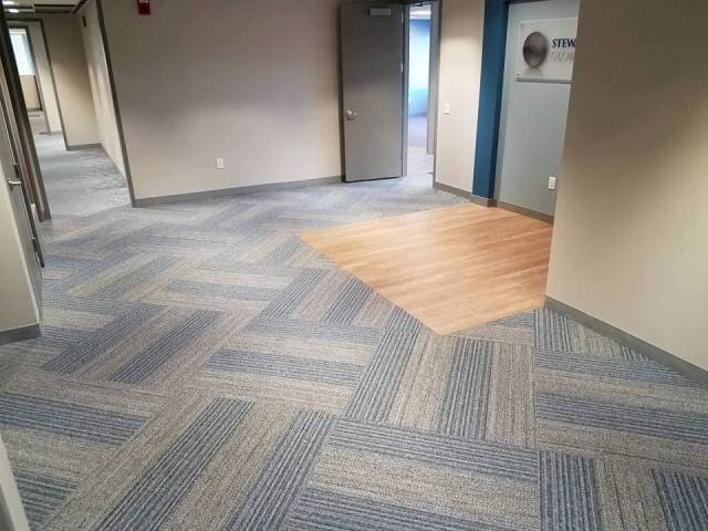 Commercial entryway installation in Manchester, NH from ADF Flooring LLC