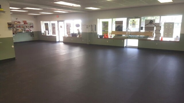 Large commercial flooring installation in Plymouth, NH from ADF Flooring LLC