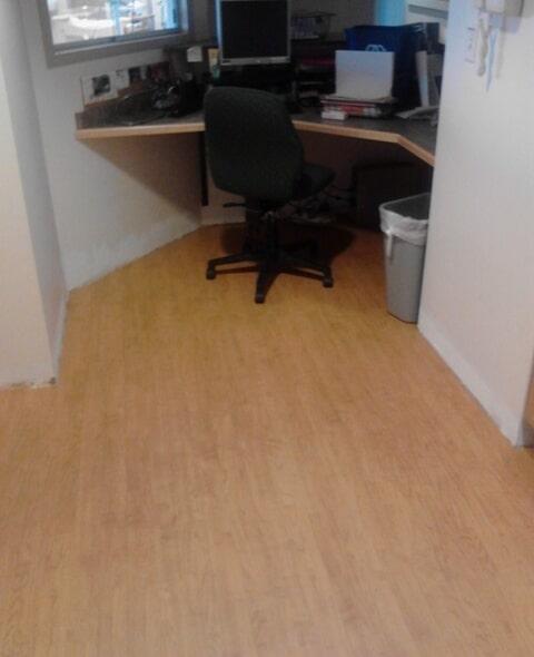 Wood look office flooring in Nashua, NH from ADF Flooring LLC