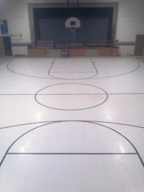 Commerial gymnasium flooring in Manchester, NH from ADF Flooring LLC