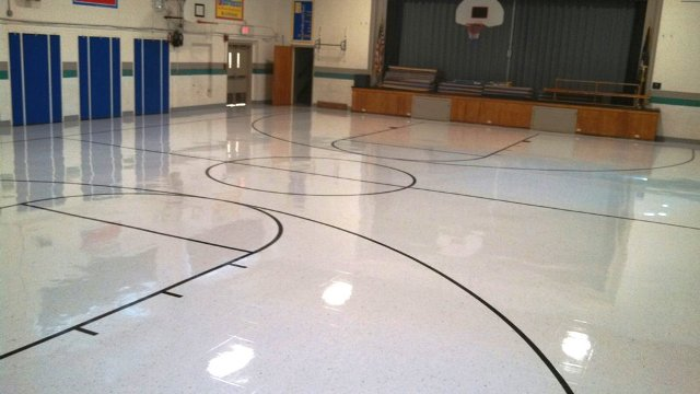 Gym flooring installation in Manchester, NH from ADF Flooring LLC