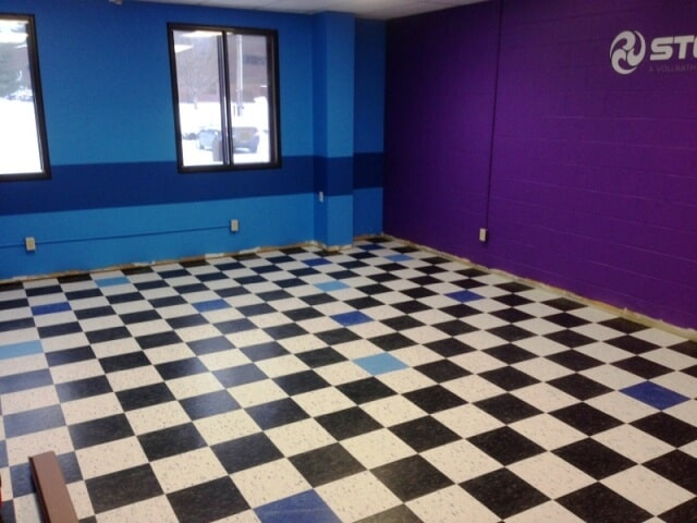Multi color commercial flooring in Plymouth, NH from ADF Flooring LLC