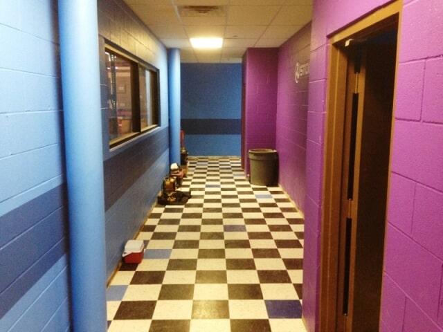 School flooring installation in Plymouth, NH from ADF Flooring LLC