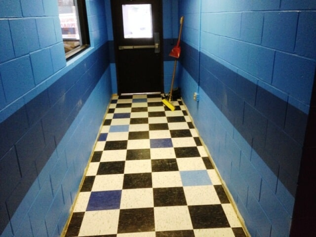 Commercial checkered flooring in Plymouth, NH from ADF Flooring LLC