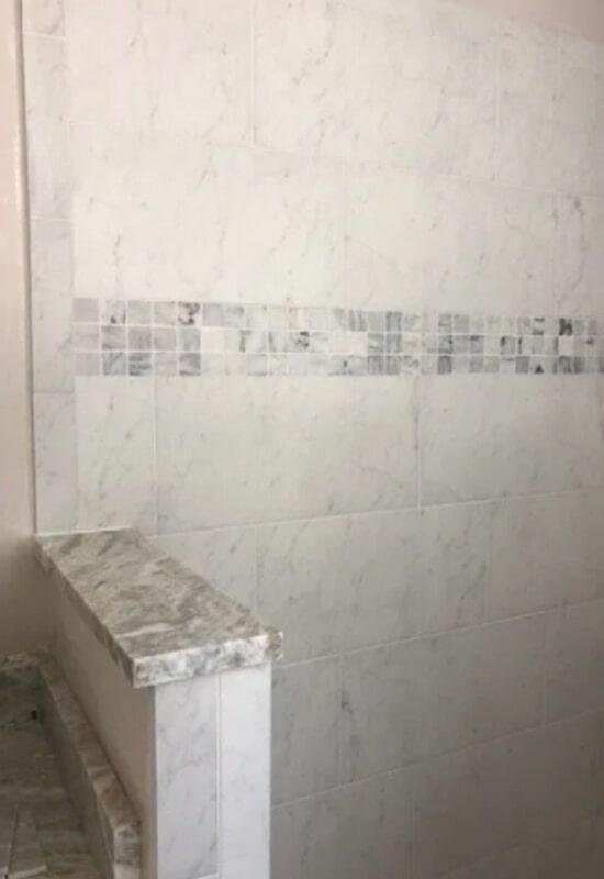 Bathroom tile from Steve Hubbard Floor Covering in East Feliciana Parish, LA
