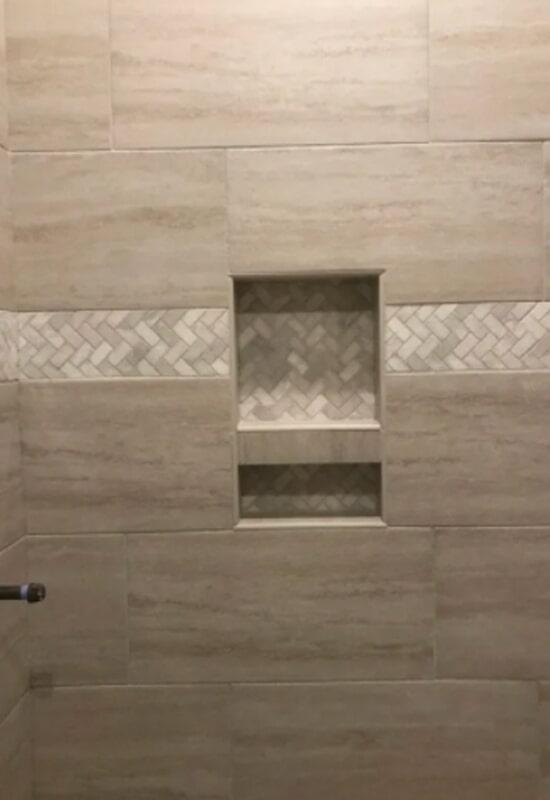 Shower tile from Steve Hubbard Floor Covering in East Feliciana Parish, LA