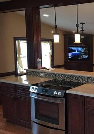 Glass tile backsplash in Wilson, NC from Richie Ballance Flooring & Tile