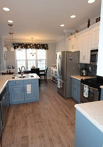 Trending kitchen design in Greenville, NC from Richie Ballance Flooring & Tile