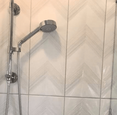 Shower tile from Zimmerle Floors in Lake Jackson, TX