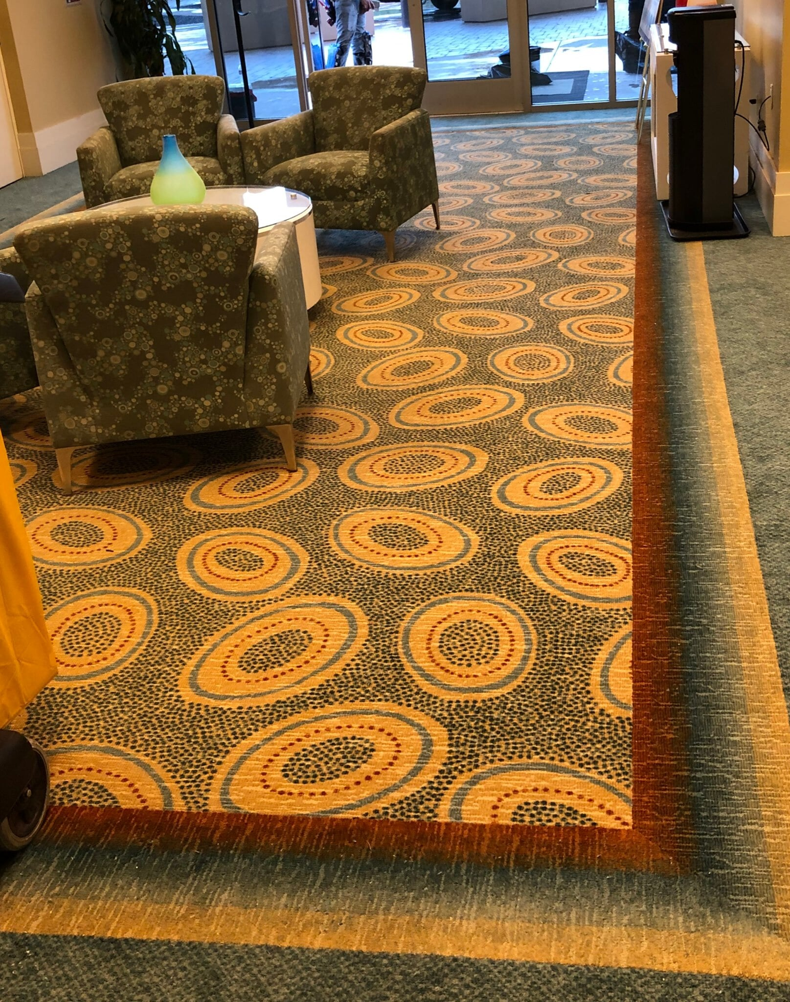 Commercial pattern carpet flooring from StarFloors in Southlake, TX