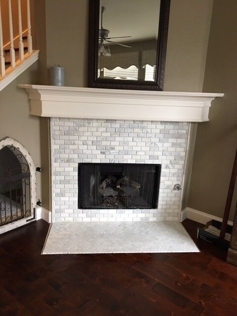 Tile fireplace from StarFloors in Plano, TX