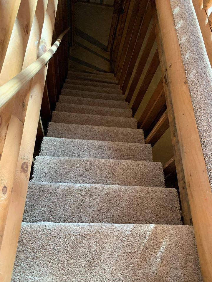 Carpet stairs from StarFloors in Plano, TX