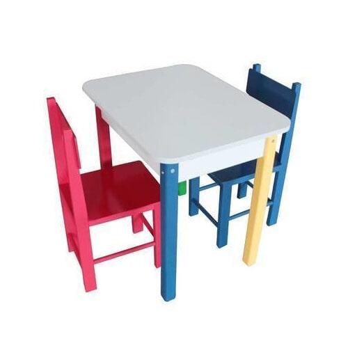 Conjunto de Mesa Retangular com duas Cadeiras
