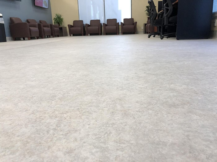 Professionally installed commercial flooring from Stafford's Discount Carpets in Beaumont, CA
