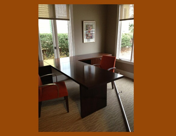 Custom carpeted office space in Charlotte, NC from Hall's Flooring