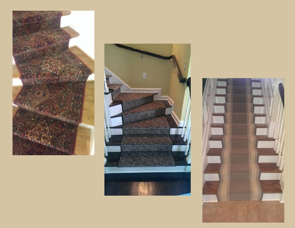 Custom carpeted stairs in Belmont, NC from Hall's Flooring