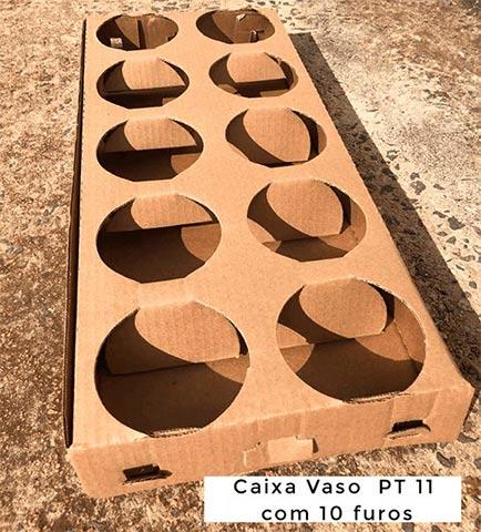Caixa vaso PT 11 com 10 furos
