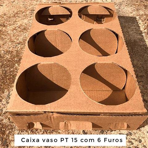 Caixa vaso PT 15 com 6 furos