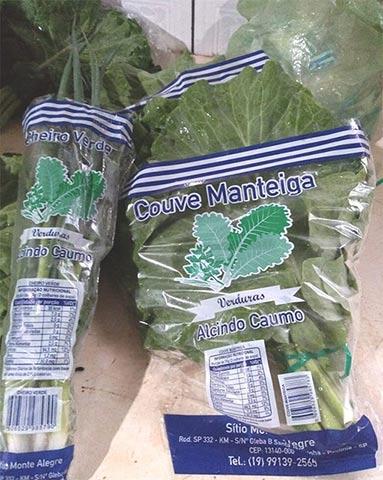 Embalagem de Verduras