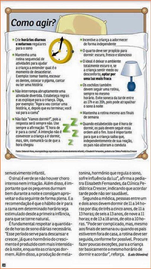 Uma Boa Noite de Sono - Revista da Hora do Jornal Agora, maio de 2016
