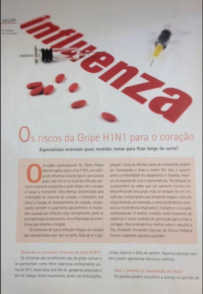 Influenza - Revista Expressão ABC e Litoral, maio de 2016