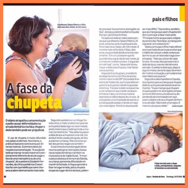 O Uso da Chupeta - Revista da Hora, julho de 2016