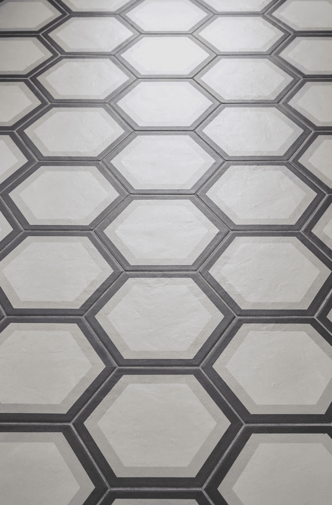 Hexagonal tile installation in Portland, OR from All Surfaces