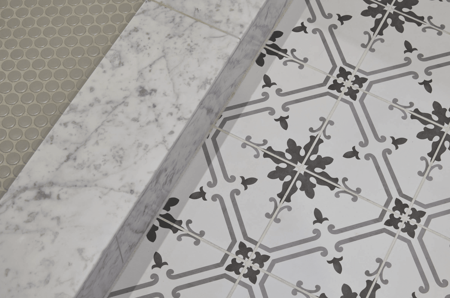 Mosaic tile flooring in Vancouver, CN from All Surfaces