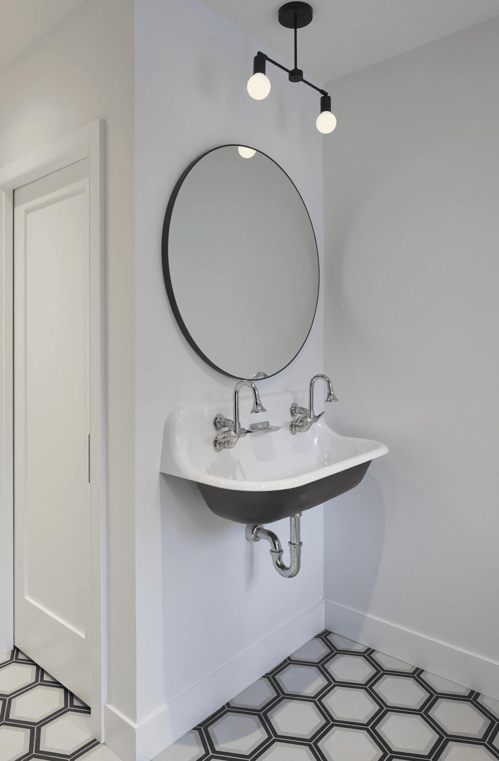 Bathroom vanity installation in Portland, OR from All Surfaces