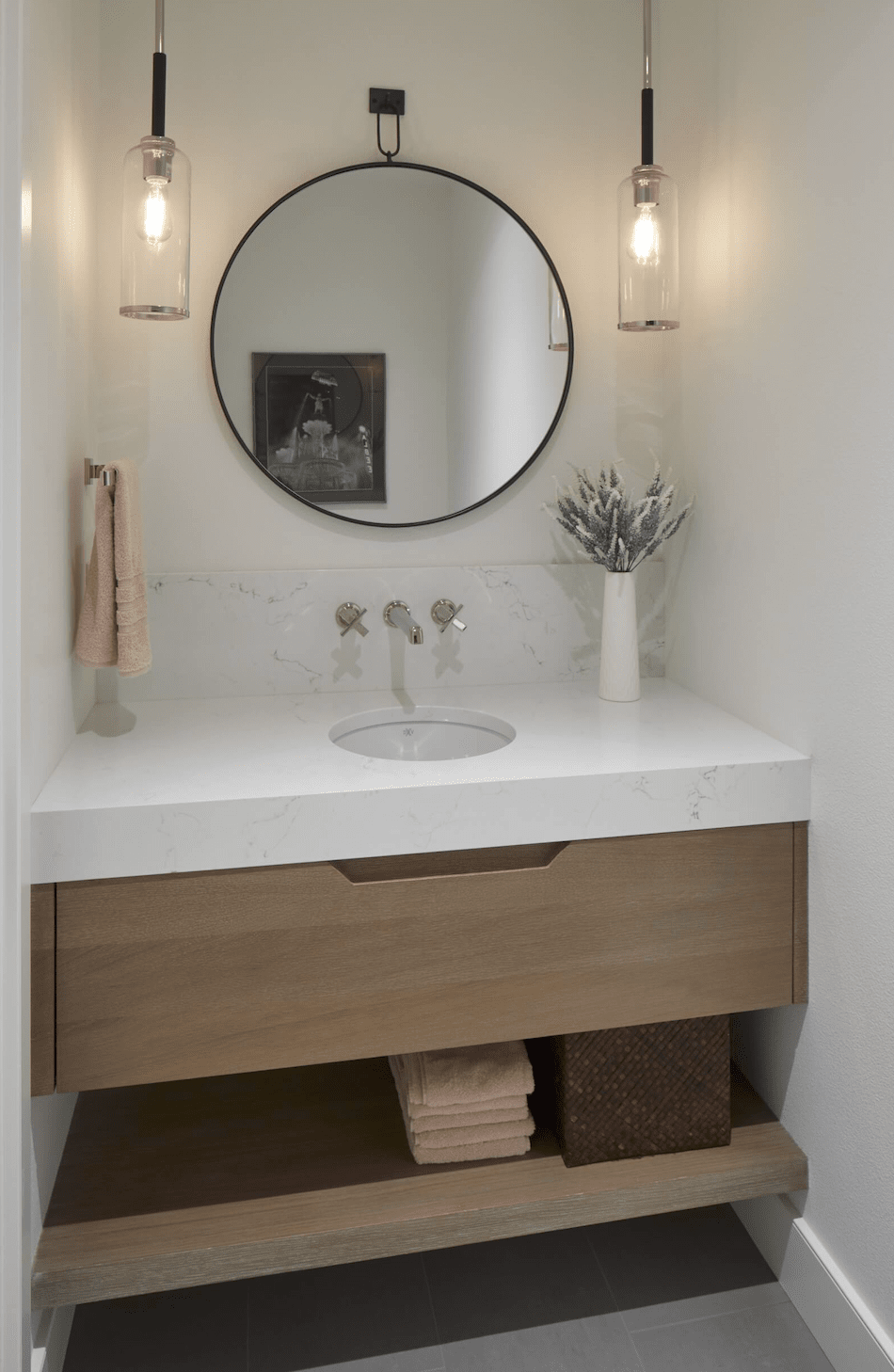 Marble vanity installation in Vancouver, CN from All Surfaces