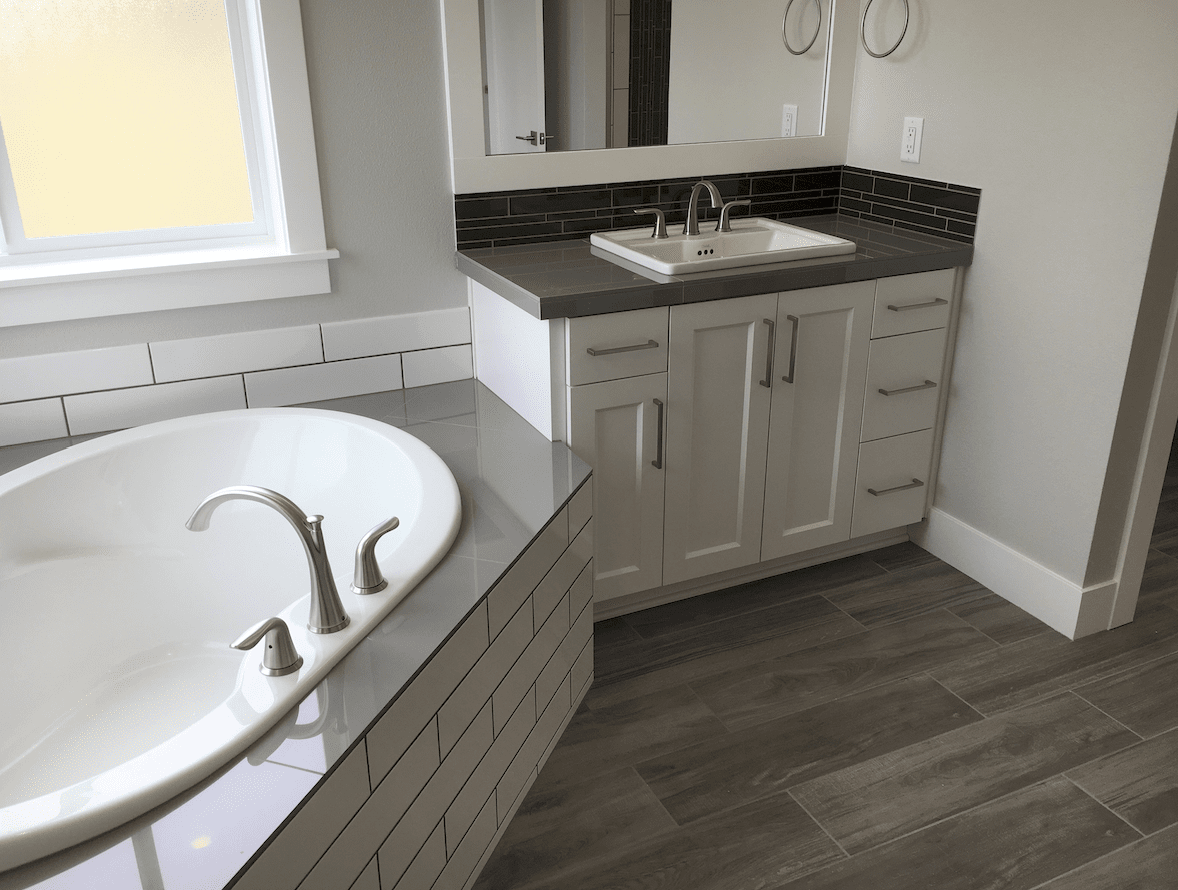 Modern bathroom remodel in Lake Oswego, OR from All Surfaces