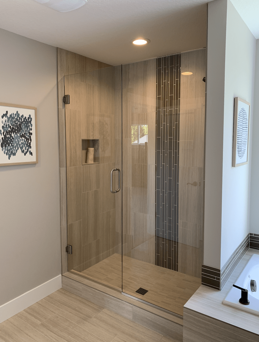 Beautiful shower installation in Portland, OR from All Surfaces