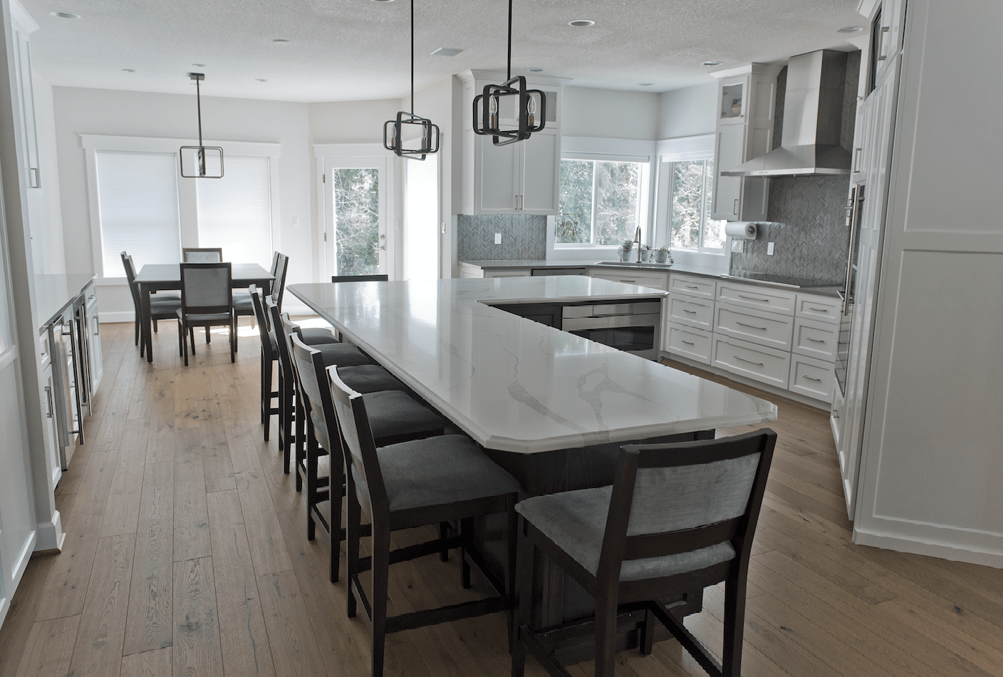 Kitchen island installation in Vancouver, CN from All Surfaces