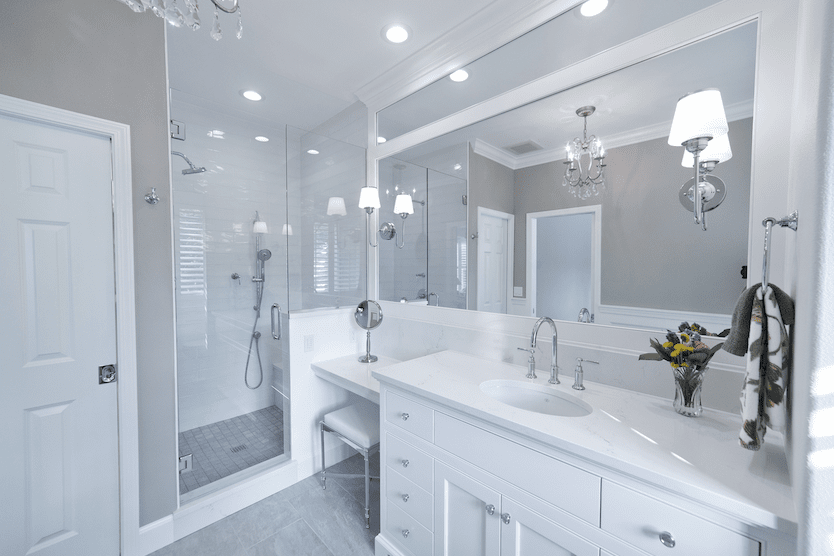 Beautiful white bathroom in Lake Oswego, OR from All Surfaces