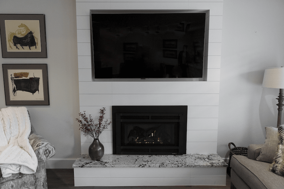 Fireplace surround installation in Vancouver, CN from All Surfaces