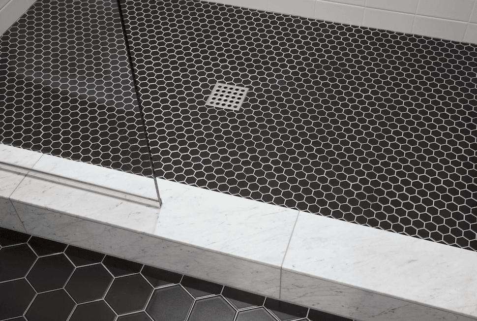 Hexagonal tile floors in Lake Oswego, OR from All Surfaces