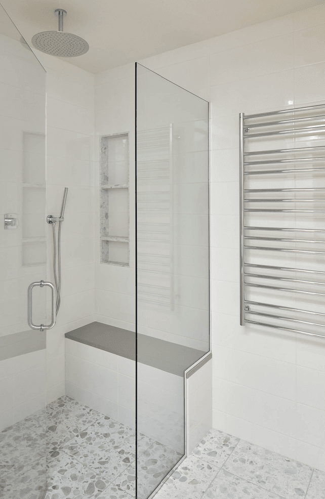 White tile shower in Vancouver, CN from All Surfaces