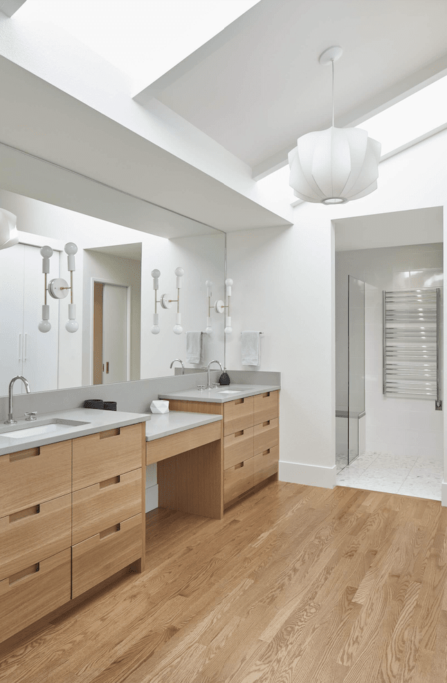 Classic wood look bathroom flooring in Sherwood, OR from All Surfaces