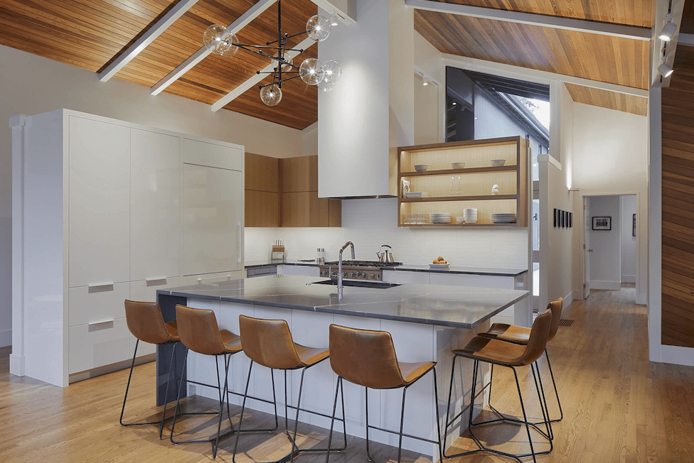 Natural wood kitchen design in Beaverton, OR from All Surfaces
