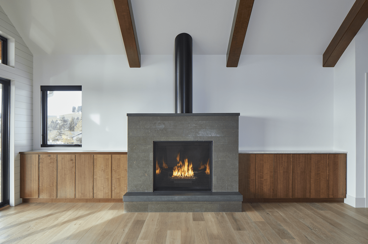 Stone fireplace surround in Vancouver, CN from All Surfaces