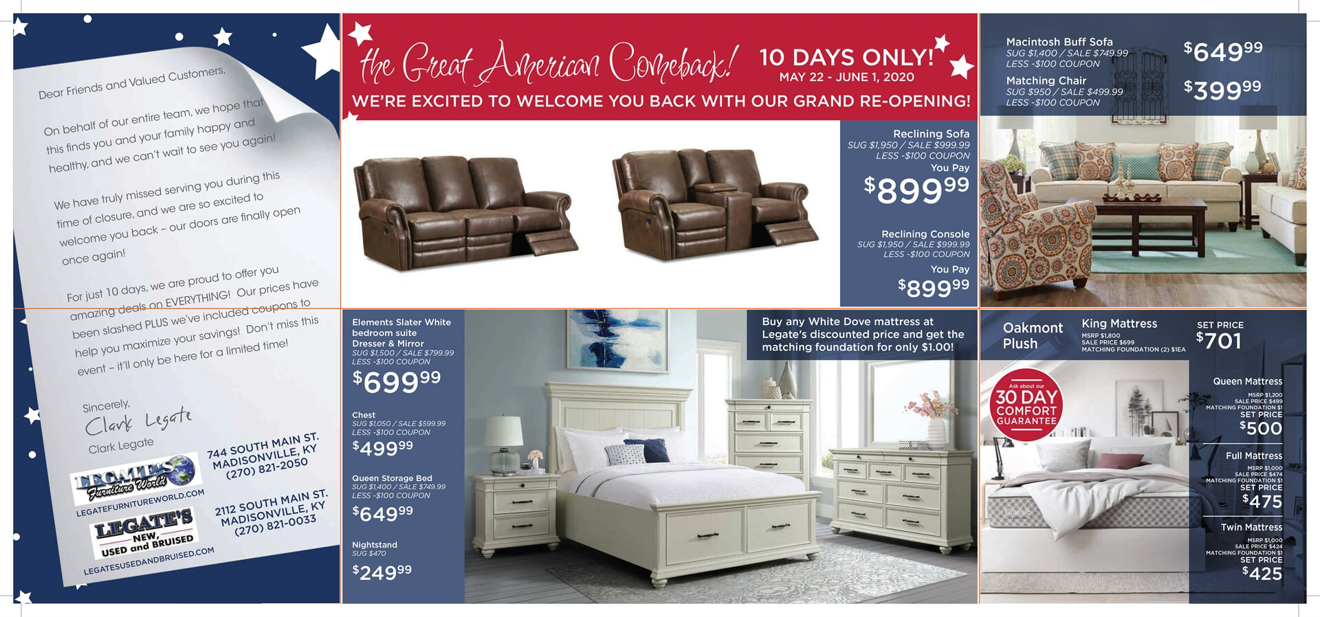 Presidents Day FURNITURE WORLD