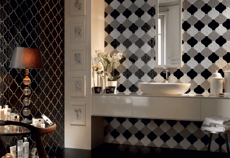 Beautiful tile wall in Redlands, CA from Simple Touch Interior Solutions