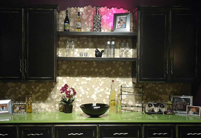 Accent tile backsplash in Loma Linda, CA from Simple Touch Interior Solutions