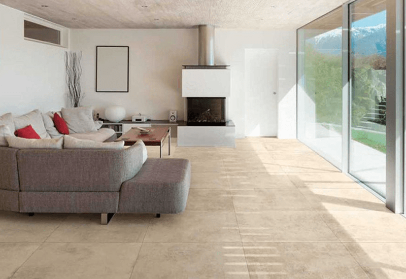 Travertine tile flooring in Redlands, CA from Simple Touch Interior Solutions