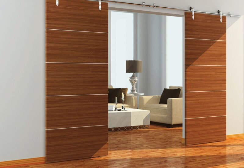 Modern sliding barn doors in Yucaipa, CA from Simple Touch Interior Solutions
