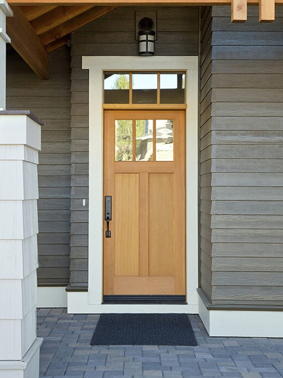 Natural wood front doors in Loma Linda, CA from Simple Touch Interior Solutions