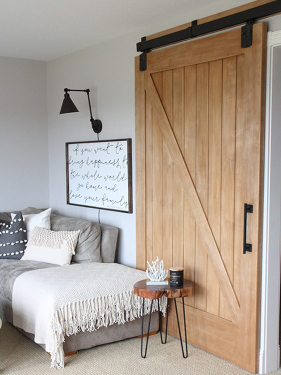 Classic barn door in Redlands, CA from Simple Touch Interior Solutions