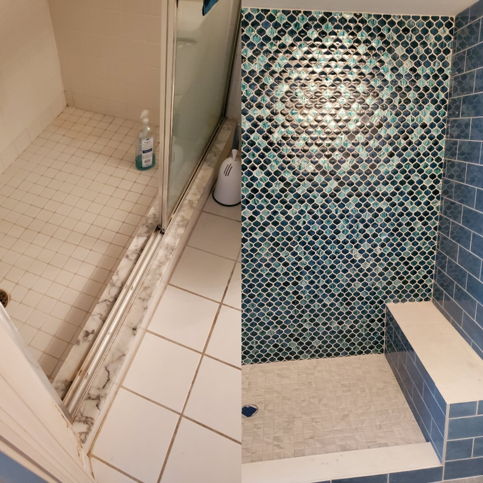 Bathroom renovation Hutchinson island before and after1